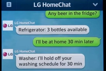 On line conversation with your Fridge